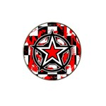 Star Checkerboard Splatter Hat Clip Ball Marker (4 pack)