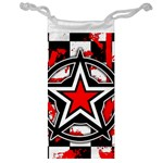 Star Checkerboard Splatter Jewelry Bag