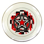 Star Checkerboard Splatter Porcelain Plate