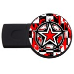 Star Checkerboard Splatter USB Flash Drive Round (4 GB)