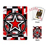 Star Checkerboard Splatter Playing Cards Single Design