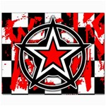 Star Checkerboard Splatter Canvas 8  x 10