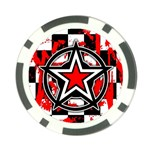 Star Checkerboard Splatter Poker Chip Card Guard
