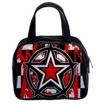 Star Checkerboard Splatter Classic Handbag (Two Sides)