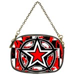 Star Checkerboard Splatter Chain Purse (One Side)