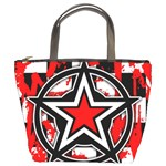 Star Checkerboard Splatter Bucket Bag
