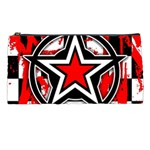 Star Checkerboard Splatter Pencil Case