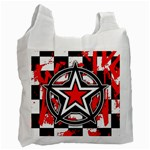Star Checkerboard Splatter Recycle Bag (Two Side)