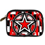 Star Checkerboard Splatter Digital Camera Leather Case