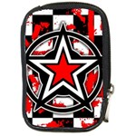 Star Checkerboard Splatter Compact Camera Leather Case