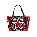 Star Checkerboard Splatter Classic Shoulder Handbag