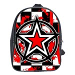 Star Checkerboard Splatter School Bag (Large)
