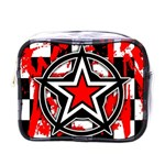 Star Checkerboard Splatter Mini Toiletries Bag (One Side)