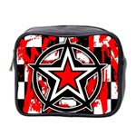 Star Checkerboard Splatter Mini Toiletries Bag (Two Sides)