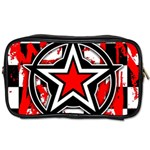 Star Checkerboard Splatter Toiletries Bag (One Side)