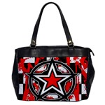 Star Checkerboard Splatter Oversize Office Handbag (One Side)