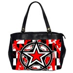 Star Checkerboard Splatter Oversize Office Handbag (Two Sides)