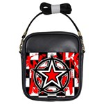 Star Checkerboard Splatter Girls Sling Bag