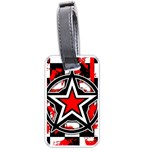 Star Checkerboard Splatter Luggage Tag (two sides)