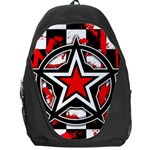 Star Checkerboard Splatter Backpack Bag