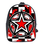 Star Checkerboard Splatter School Bag (XL)