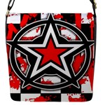 Star Checkerboard Splatter Flap closure messenger bag (Small)