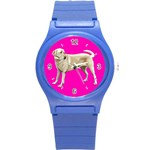 Use Your Dog Photo Labrador Round Plastic Sport Watch Small