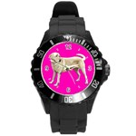 Use Your Dog Photo Labrador Round Plastic Sport Watch Large