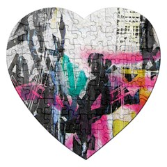 Graffiti Grunge Jigsaw Puzzle (Heart) from ArtsNow.com Front