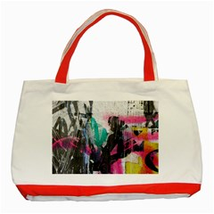 Graffiti Grunge Classic Tote Bag (Red) from ArtsNow.com Front