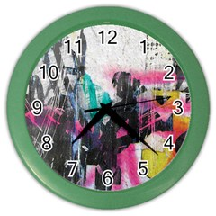 Graffiti Grunge Color Wall Clock from ArtsNow.com Front