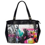 Graffiti Grunge Oversize Office Handbag (Two Sides) from ArtsNow.com Front