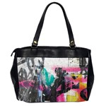 Graffiti Grunge Oversize Office Handbag (Two Sides) from ArtsNow.com Back