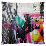 Graffiti Grunge Large Cushion Case (Two Sides) from ArtsNow.com Back