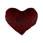 Red Mystic 16  Premium Heart Shape Cushion  from ArtsNow.com Front