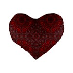 Red Mystic 16  Premium Heart Shape Cushion  from ArtsNow.com Back