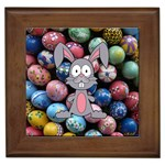 Easter Egg Bunny Treasure Framed Ceramic Tile