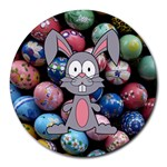 Easter Egg Bunny Treasure 8  Mouse Pad (Round)