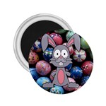 Easter Egg Bunny Treasure 2.25  Button Magnet