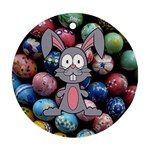 Easter Egg Bunny Treasure Round Ornament