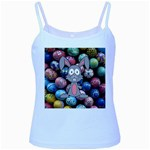 Easter Egg Bunny Treasure Baby Blue Spaghetti Tank