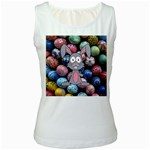 Easter Egg Bunny Treasure Women s Tank Top (White)