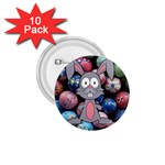 Easter Egg Bunny Treasure 1.75  Button (10 pack)