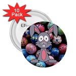Easter Egg Bunny Treasure 2.25  Button (10 pack)