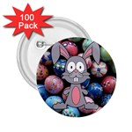 Easter Egg Bunny Treasure 2.25  Button (100 pack)