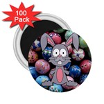 Easter Egg Bunny Treasure 2.25  Button Magnet (100 pack)