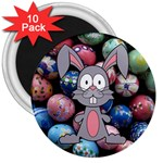 Easter Egg Bunny Treasure 3  Button Magnet (10 pack)
