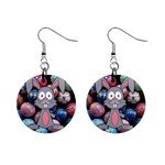 Easter Egg Bunny Treasure Mini Button Earrings