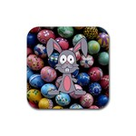 Easter Egg Bunny Treasure Drink Coaster (Square)