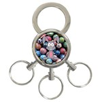 Easter Egg Bunny Treasure 3-Ring Key Chain